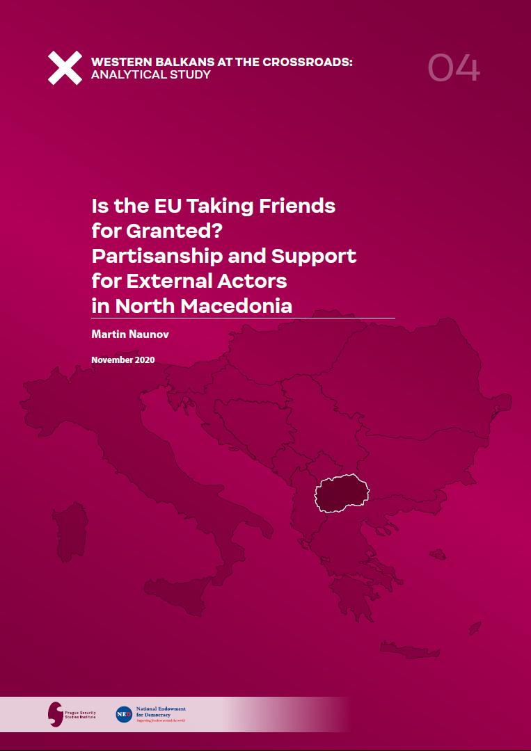 Is the EU Taking Friends for Granted Partisanship and Support for External Actors in North Macedonia Coverphoto