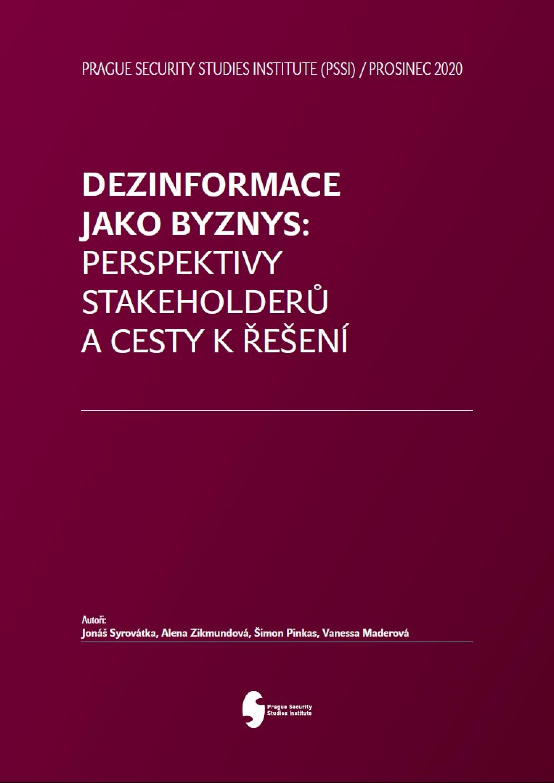 Dezinformace jako byznes Perspektivy Stakeholderu a cesty reseni Coverpage