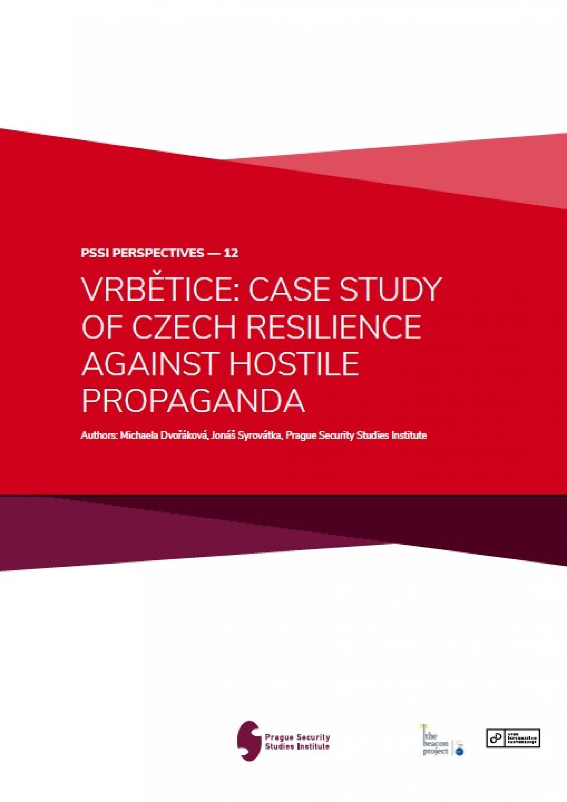 Vrbětice Case Study of Czech Resilience Against Hostile Propaganda COVERPHOTO